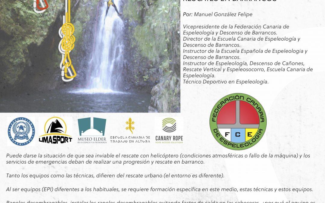 I Jornadas Técnicas de Rescate en Altura en Canarias